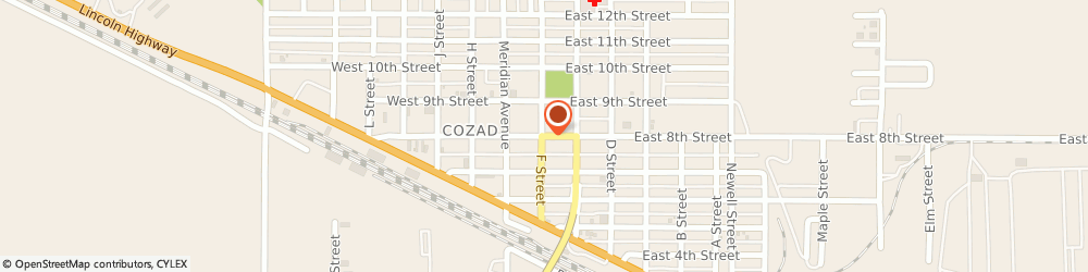Route/map/directions to Maytag Retailer, 69130 Cozad, 203 East 8Th Street