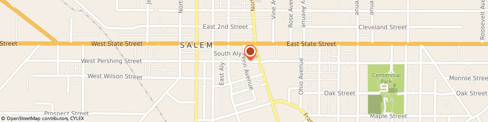 Route/map/directions to Comprehensive Brace & Limb Center, 44460 Salem, 2235 E Pershing St