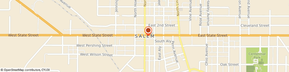 Route/map/directions to ASHLEYS AUTO SERVICE, 44460 Salem, 14157 Western Reserve Rd Route 32
