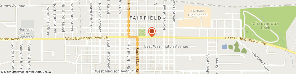 Route/map/directions to BP, 52556 Fairfield, 120 E BURLINGTON AVE