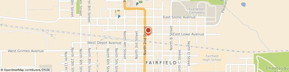 Route/map/directions to University BP, 52556 Fairfield, 500 NORTH 2ND STREET