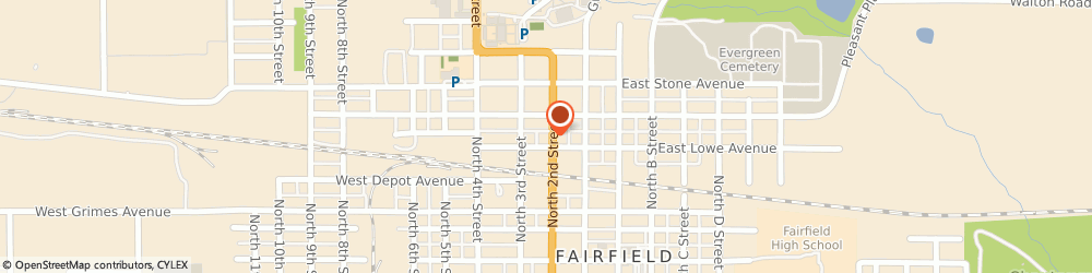 Route/map/directions to bp, 52556 Fairfield, 500 North 2nd Street