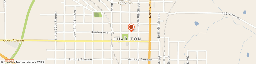 Route/map/directions to Radio Shack, 50049 Chariton, 929 BRADEN AVE