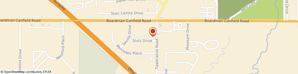 Route/map/directions to Globex Corp., 44406 Canfield, 3620 Stutz Dr