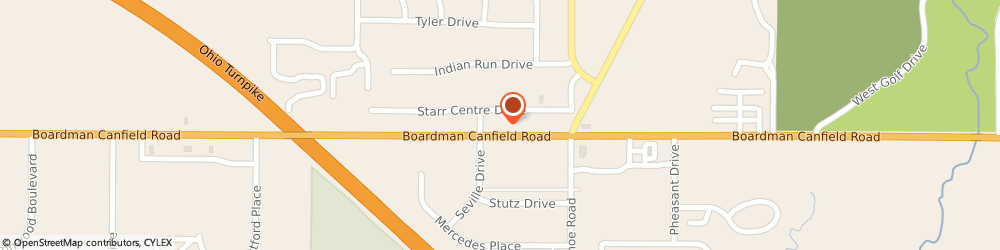 Route/map/directions to Custom Direct LLC, 44406 Canfield, 3711 Starrs Centre Dr.
