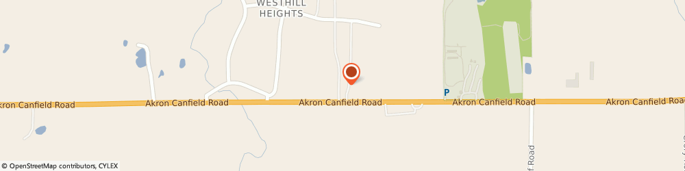 Route/map/directions to Creative Cabinets, 44406 Canfield, 9670 Akron Canfield Rd