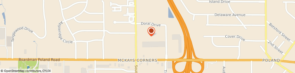Route/map/directions to Giant Eagle Pharmacy, 44514 Boardman, 1201 Doral Drive