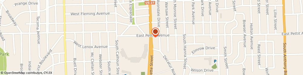 Route/map/directions to Firestone Retailer, 46806 Fort Wayne, 4915 S Lafayette Street
