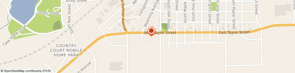 Route/map/directions to Subway, 50801 Creston, 602 West Taylor St