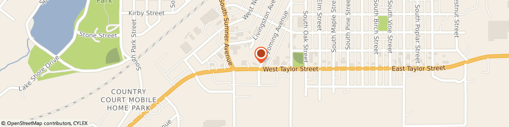 Route/map/directions to McDonald's, 50801 Creston, 608 Wyoming Ave