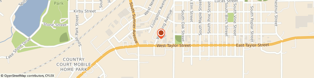 Route/map/directions to State Farm Insurance, 50801 Creston, 803 Wyoming Ave