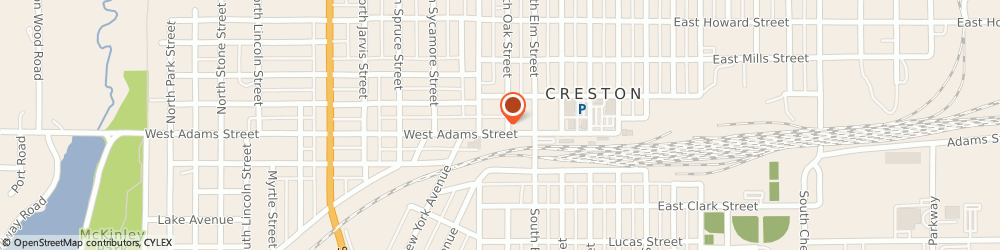 Route/map/directions to Iowa State Savings Bank, 50801 Creston, 401 W Adams St