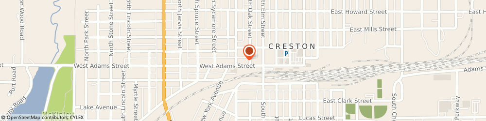 Route/map/directions to Issb, 50801 Creston, 401 W Adams St