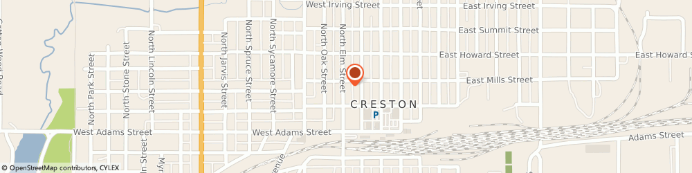 Route/map/directions to IowaWORKS - Creston, 50801 Creston, 215 N Elm Street
