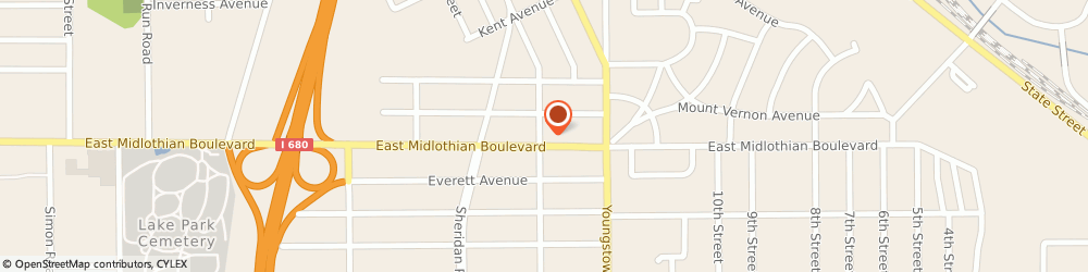 Route/map/directions to Keystone Physical Therapy, 44502 Youngstown, 2010 E. Midlothian Blvd