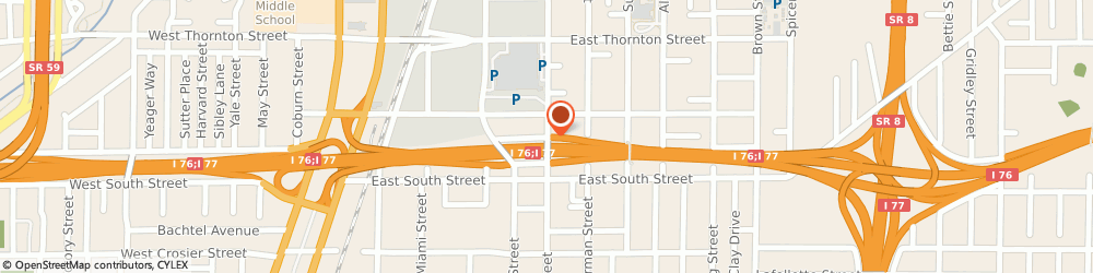 Route/map/directions to Mold Removal Akron, 44311 Akron, Grant St