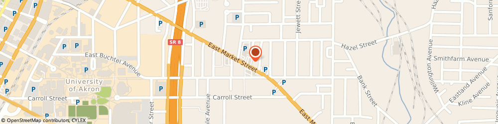 Route/map/directions to Wendy's, 44304 Akron, 623 E. Market Street