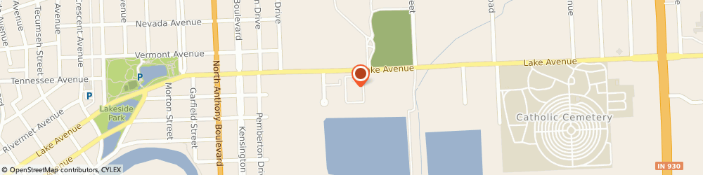 Route/map/directions to Lake Avenue Home Dyalysis, 46805 Fort Wayne, 2414 Lake Ave