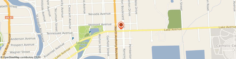 Route/map/directions to Answercall Inc, 46805 Fort Wayne, 1801 LAKE AVENUE