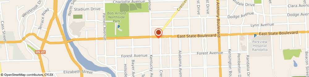 Route/map/directions to Red Wing Shoe, 46805 Fort Wayne, 1116 E State Blvd