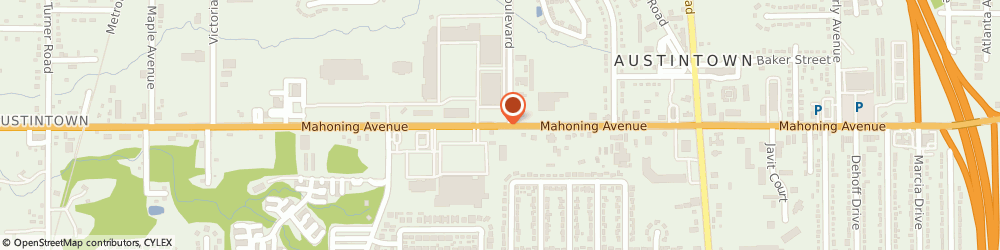 Route/map/directions to Radioshack, 44515 Youngstown, 5880 Mahoning Ave #6