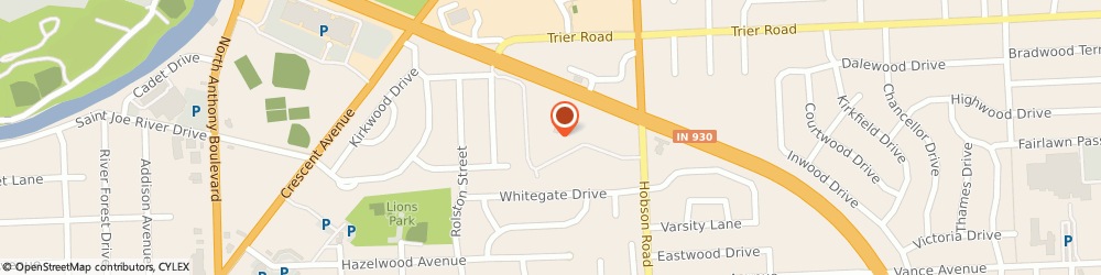 Route/map/directions to Health Care, 46805 Fort Wayne, 3000 East Coliseum Blvd, Suite 300