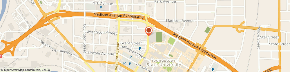 Route/map/directions to Sunoco, 44502 Youngstown, 590 Fifth Avenue