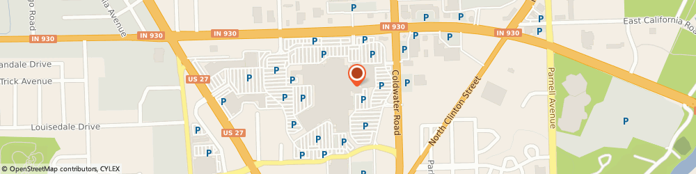 Route/map/directions to Piercing Pagoda, 46805 Fort Wayne, 4201 Coldwater Rd