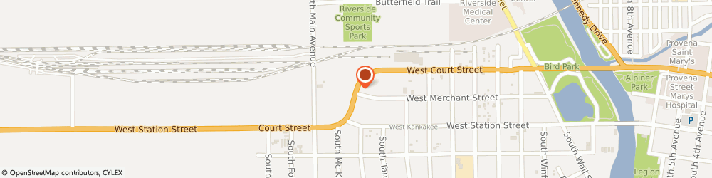 Route/map/directions to Paul Gianotti Gianotti Financial Group, Llc, 60901 Kankakee, 1949 W Court Street