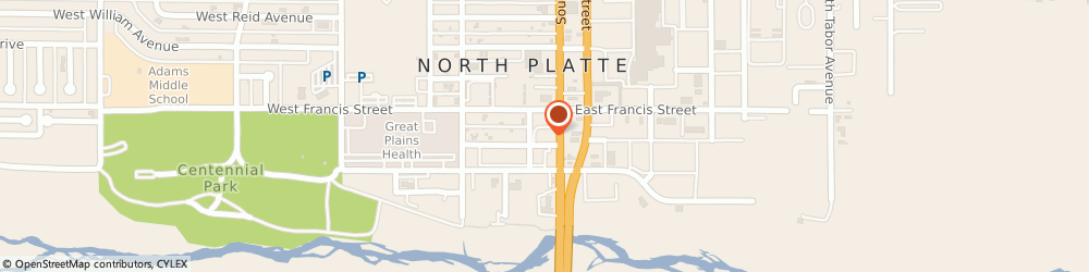 Route/map/directions to Burger King, 69101 North Platte, 1310 South Jeffers St