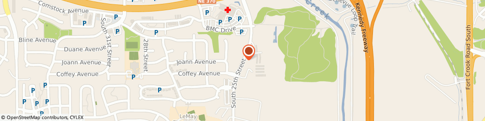 Route/map/directions to State Farm Insurance, 68123 Bellevue, 11828 S 25TH ST