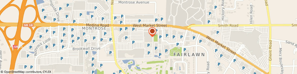 Route/map/directions to Subway, 44333 Fairlawn, 3750-I W Market St