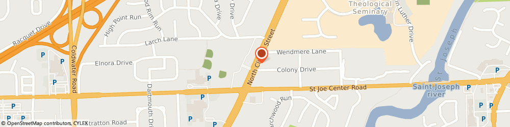Route/map/directions to Laboratory Corporation Of America, 46825 Fort Wayne, 6033 N. Clinton St