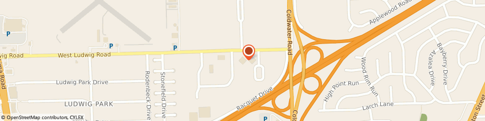 Route/map/directions to Farmers Insurance - Richard Warner, 46825 Fort Wayne, 111 E Ludwig Rd