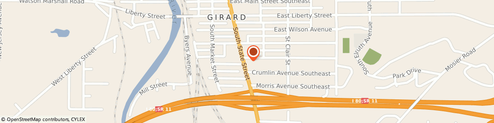 Route/map/directions to Sunoco, 44420 Girard, 307 S State Street
