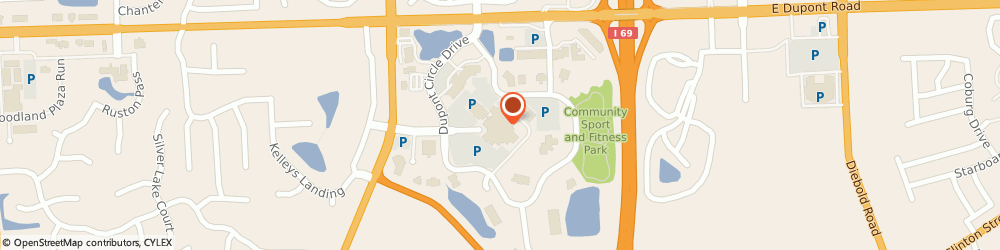 Route/map/directions to Dupont Hospital, 46825 Fort Wayne, 2520 E. Dupont Road