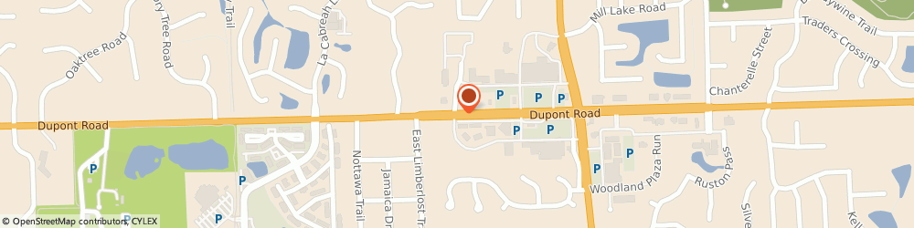 Route/map/directions to Pak Mail, 46825 Fort Wayne, 429 E. Dupont Rd.