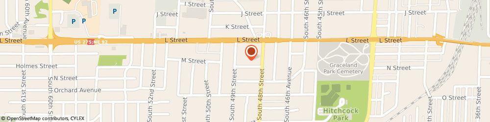 Route/map/directions to H&R Block, 68117 Omaha, 4839-4843 L St