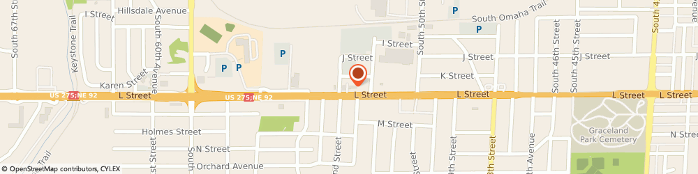 Route/map/directions to Firestone Retailer, 68117 Omaha, 5120 L Street