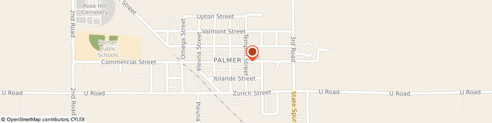 Route/map/directions to United Methodist Church, 68864 Palmer, 1012 COMMERCIAL ST