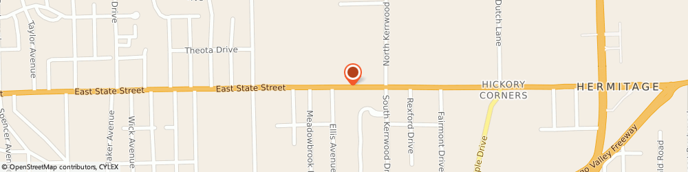 Route/map/directions to Giant Eagle Pharmacy, 16148 Hermitage, 2365 East State Street