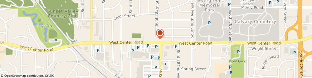 Route/map/directions to H&R Block, 68124 Omaha, 8404-8424 W Center Rd