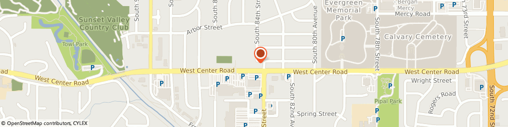 Route/map/directions to H & r Block, 68124 Omaha, 8424 WEST CENTER ROAD