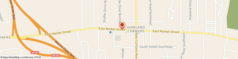 Route/map/directions to Giant Eagle - Video, Bakery, 44484 Warren, 8202 East Market Street