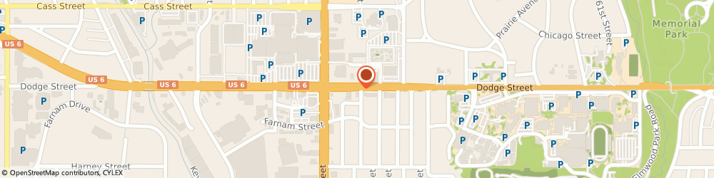 Route/map/directions to Fuddruckers, 68132 Omaha, 7059 Dodge St