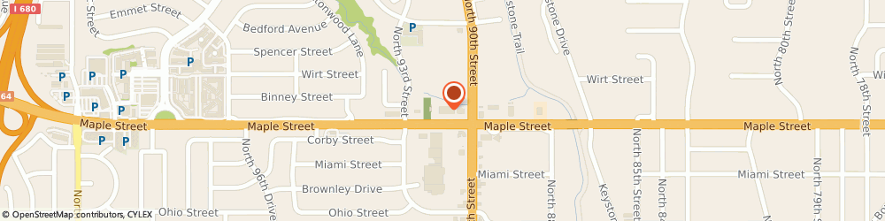Route/map/directions to H&R Block, 68134 Omaha, 9006 Maple St