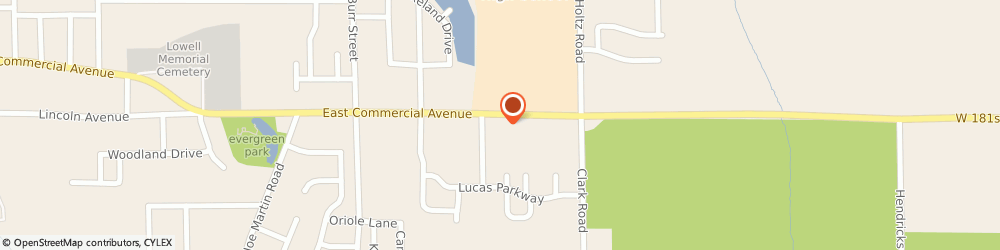 Route/map/directions to Pizza Hut, 46356 Lowell, 1916 E. Commercial Ave.