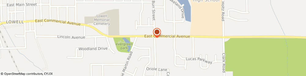 Route/map/directions to KFC, 46356 Lowell, 1692 East Commercial