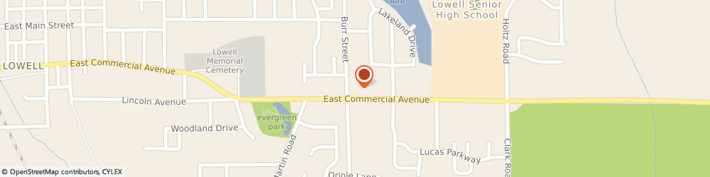 Route/map/directions to McDonald's, 46356 Lowell, 1705 East Commercial