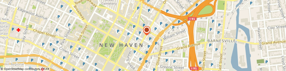Route/map/directions to Frontier Communications, 06510 New Haven, 310 Orange Street